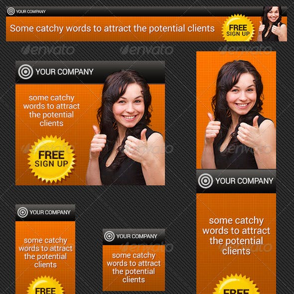 Sign Up Banner Ad PSD Templates