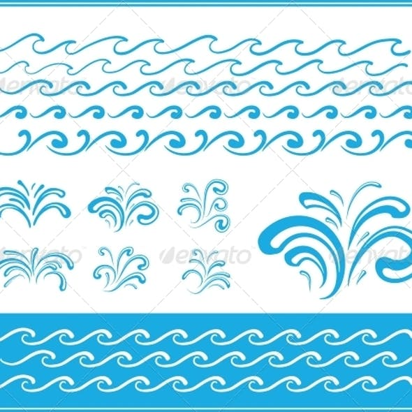 Set of Wave Symbols for Design