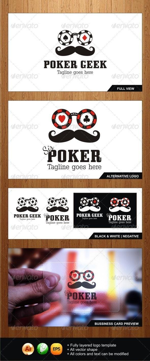 Poker Geek - Sir Poker Logos - Humans Logo Templates