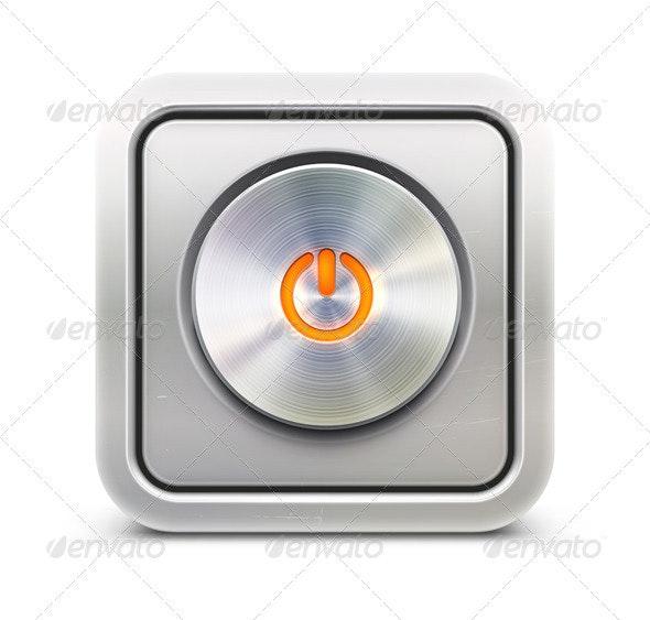 Power Button  - Technology Conceptual