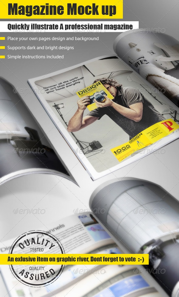 Magazine Mock Up Tool - Magazines Print Templates