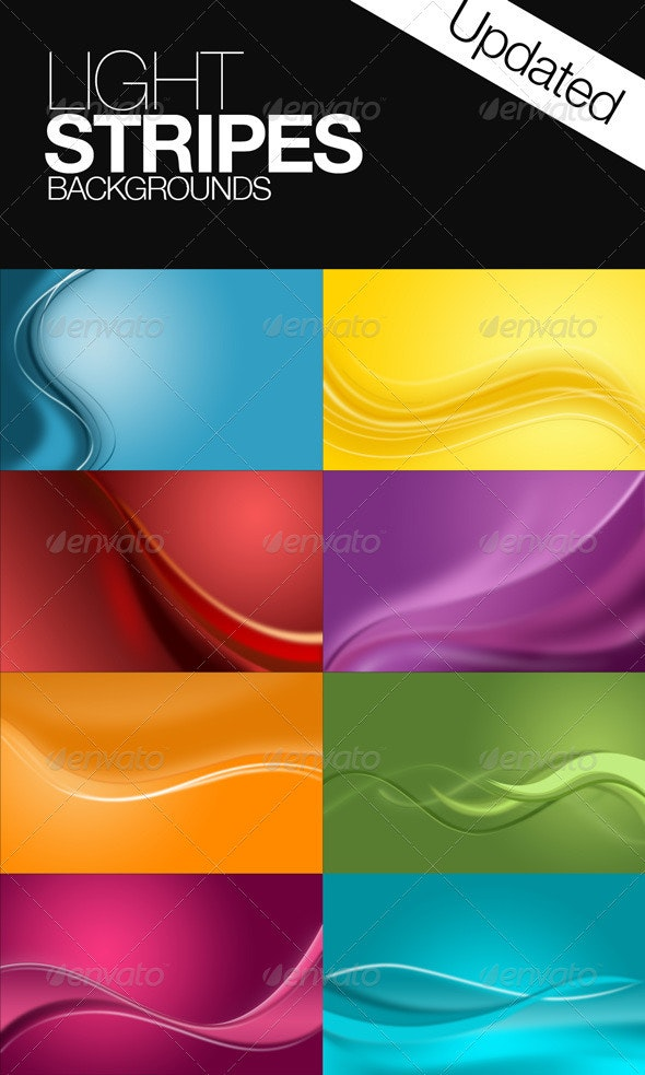 Light Stripes Background - Backgrounds Graphics