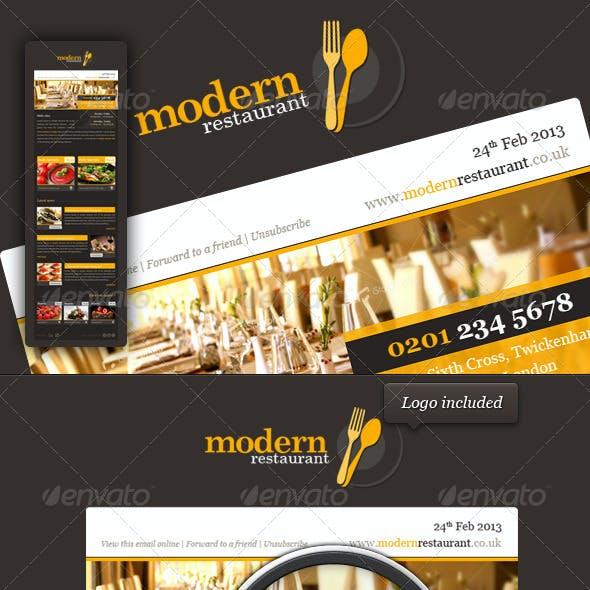 Modern Restaurant eNewsletter Template