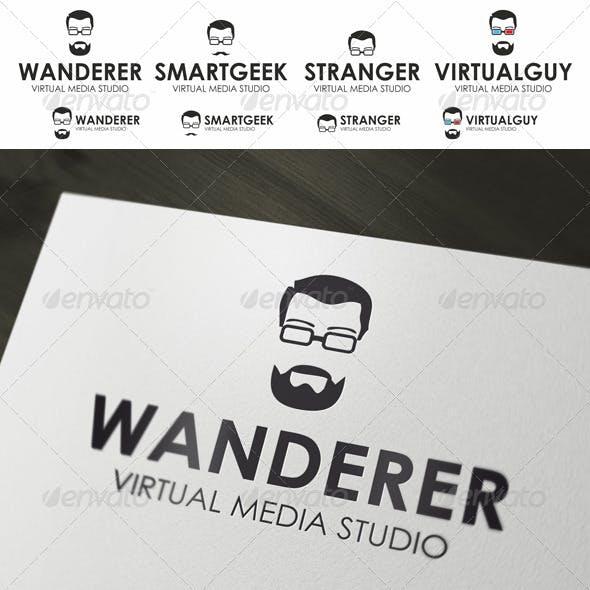 Geek Logo - Guy In Stylish Glasses