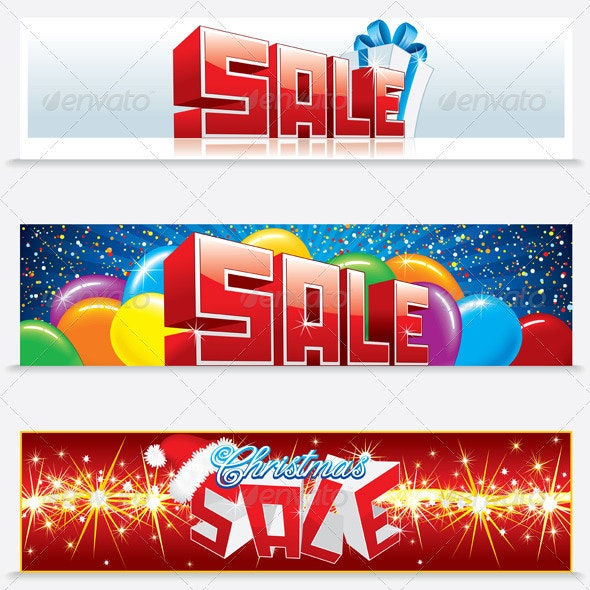 Christmas Sale Web Banners - Backgrounds Decorative