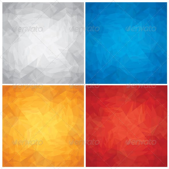 Colored Crumpled Textures. Vector Backgrounds