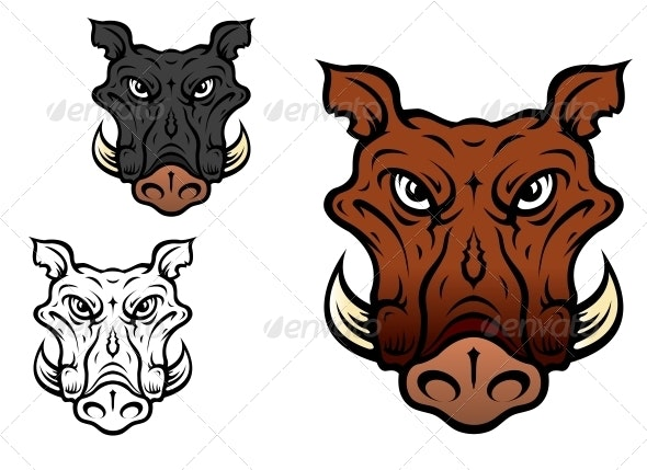 Wild boar or hog - Animals Characters