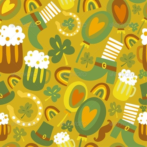 Colorful seamless St.Patrick's day pattern
