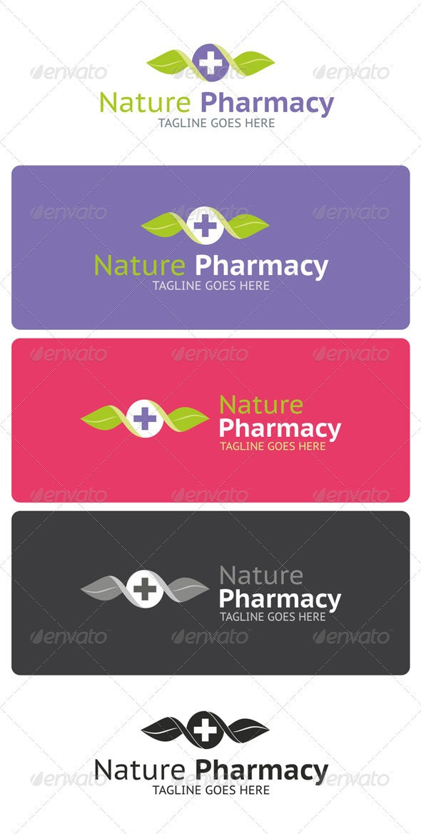 Nature Pharmacy Logo Template - Nature Logo Templates
