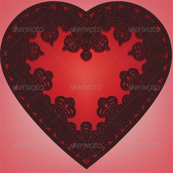 lace heart - Weddings Seasons/Holidays