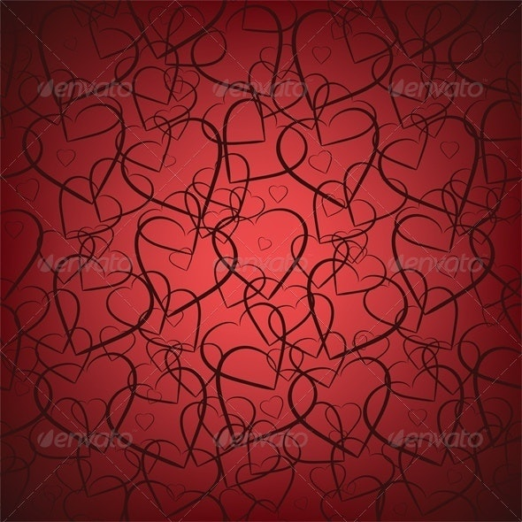 Valentines seamless background - Valentines Seasons/Holidays