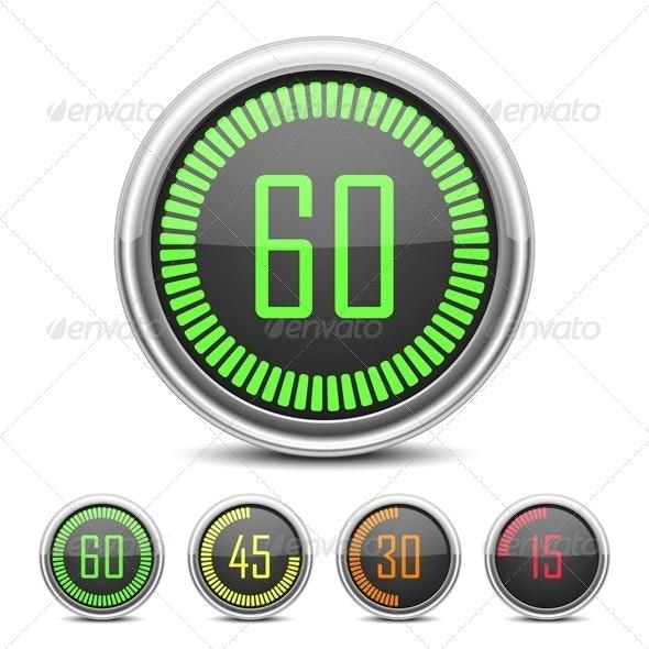 Digital Countdown Timer - Technology Conceptual