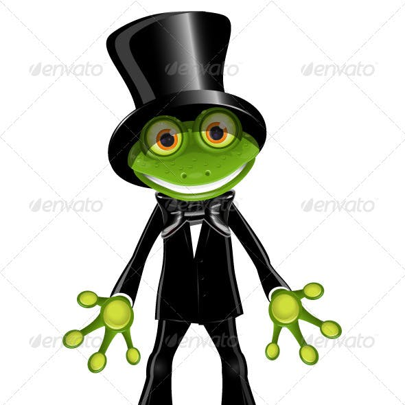 Frog in a Top Hat