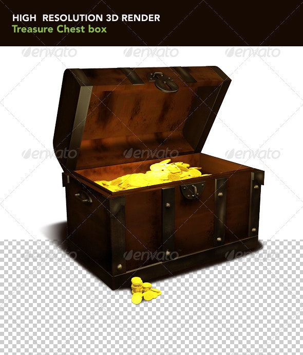 Treasure Chest Box  - Objects 3D Renders