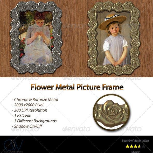 Flower Metal Frame