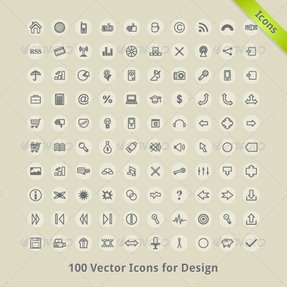 Vector Icons for Design