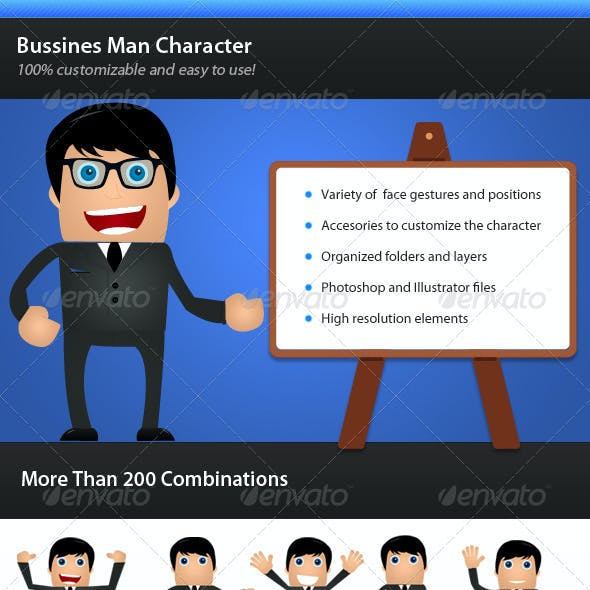 Bussines Man Character