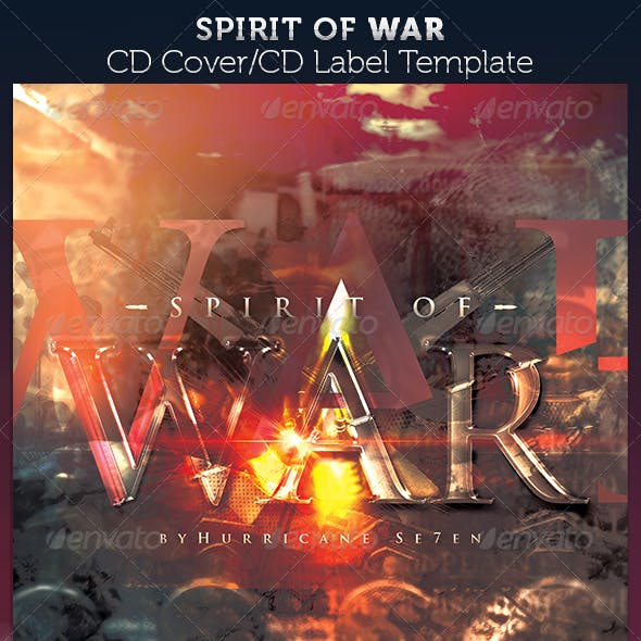 Spirit of War: CD Cover Artwork Template