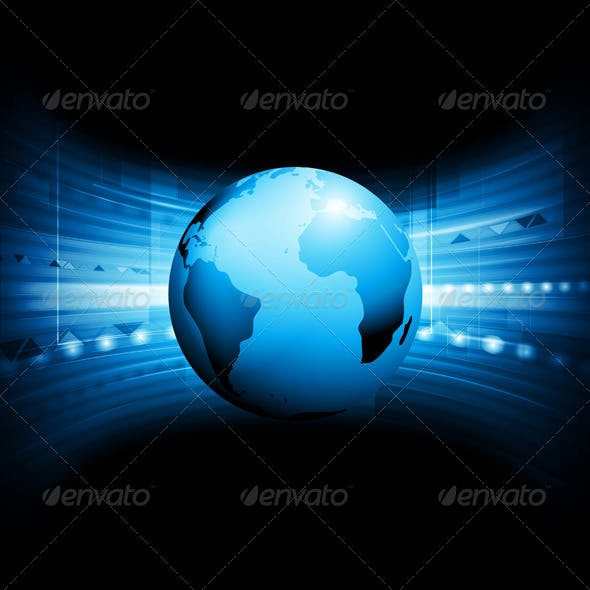 Vector Technology Background with Globe