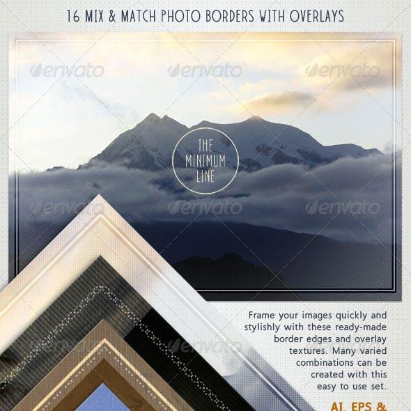 Photo Borders & Overlays Set; Minimal Style