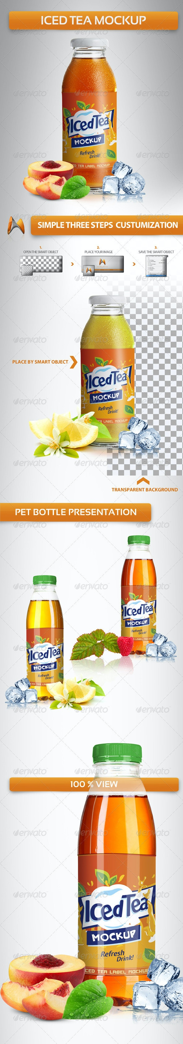 Iced Tea Mockup - Food and Drink Packaging