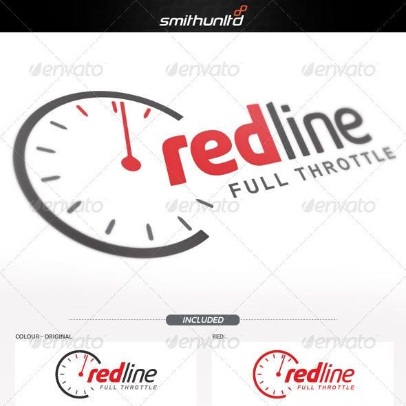 Redline - Full throttle Logo template