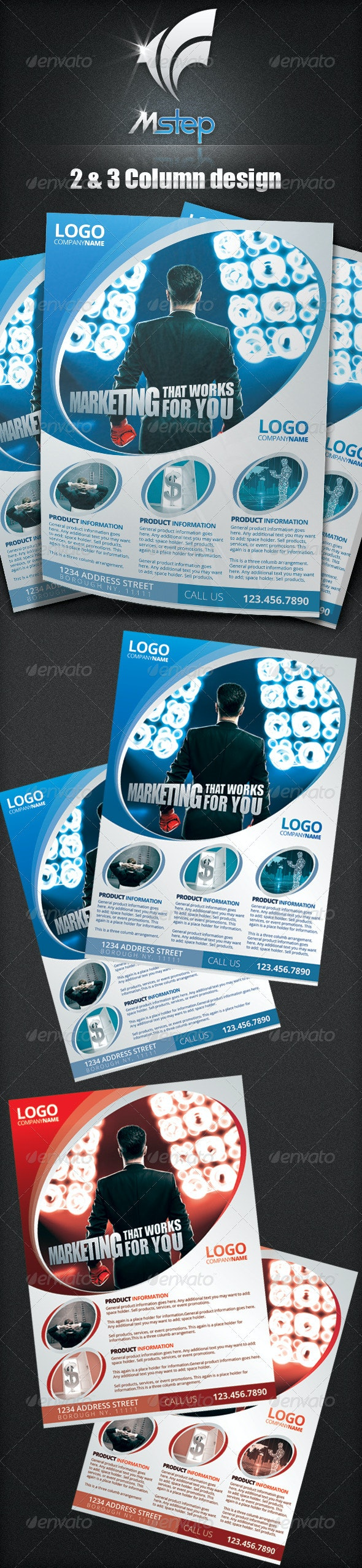 2 Simple Business Flyer Template - Corporate Flyers