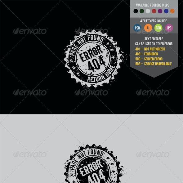 Stamp 404 Error Page
