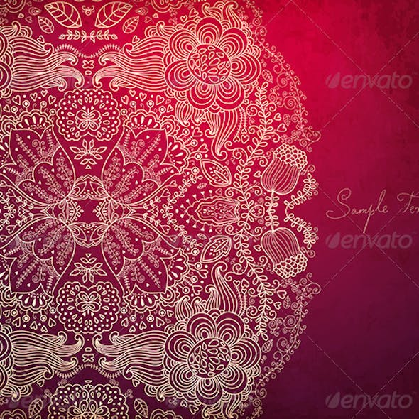 Vector Vintage Background with Lacy Pattern