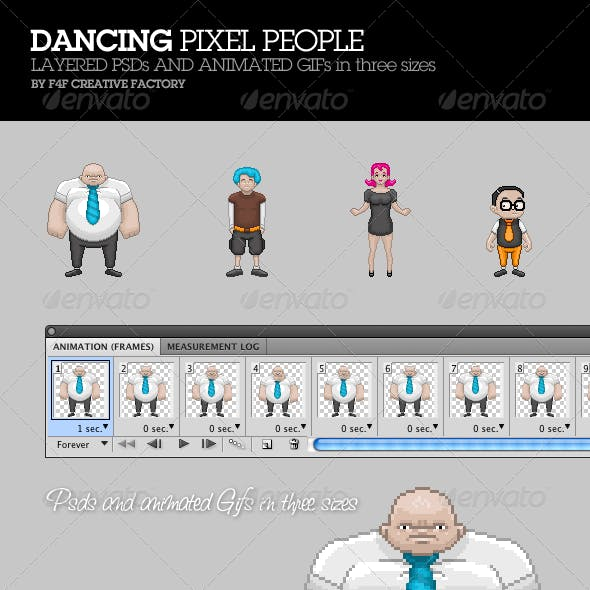 Dancing Pixel People