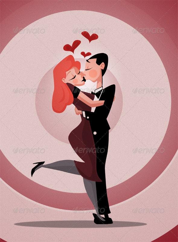 Love Cartoon - Characters Illustrations