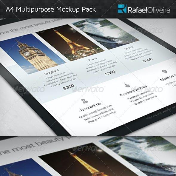 A4 Multipurpose Mock-ups Pack
