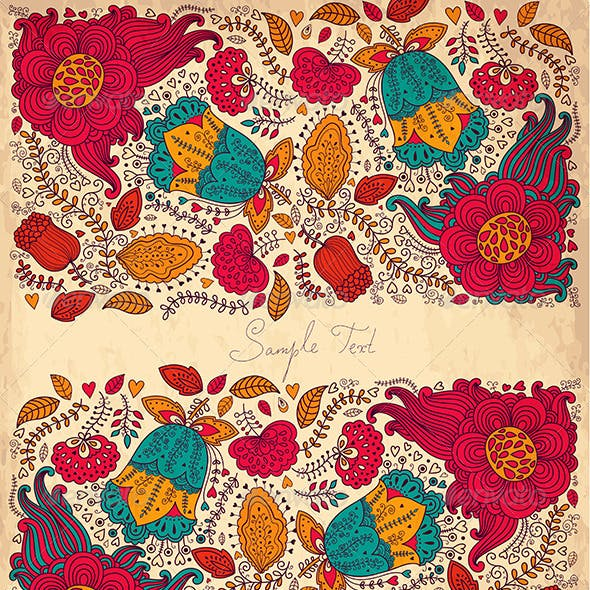 Vector Background with Floral Pattern