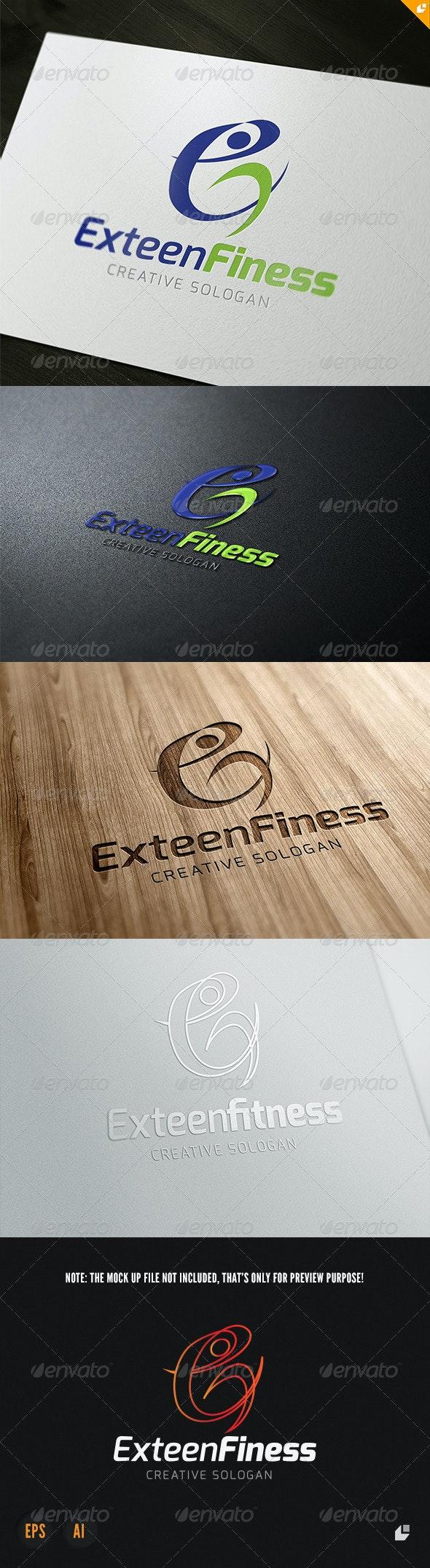 Exteen Fitness Logo - Humans Logo Templates