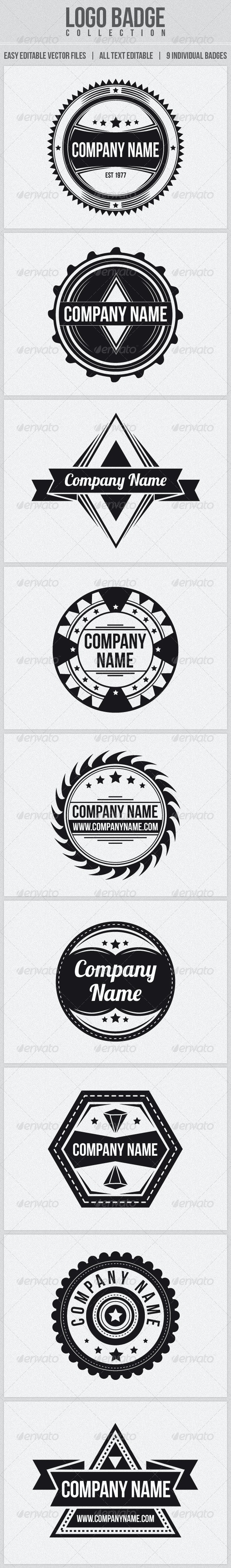 Logo Badge Collection - Badges & Stickers Web Elements