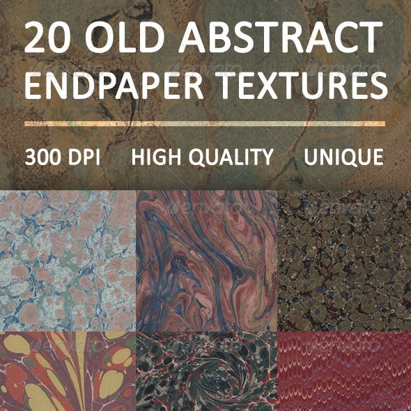 20 Old Abstract Endpaper Textures