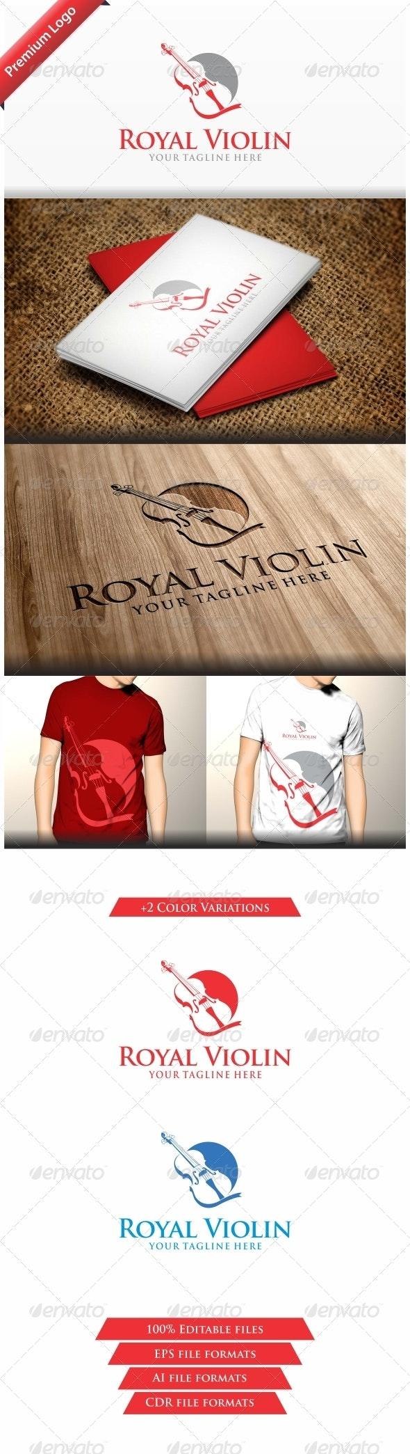 Royal Violin - Objects Logo Templates