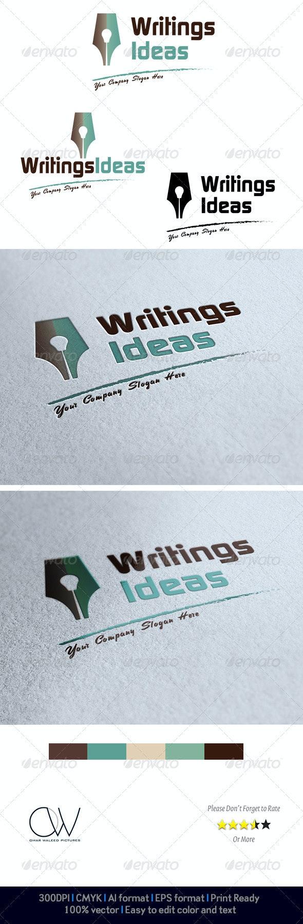 Writings Idea Logo - Logo Templates