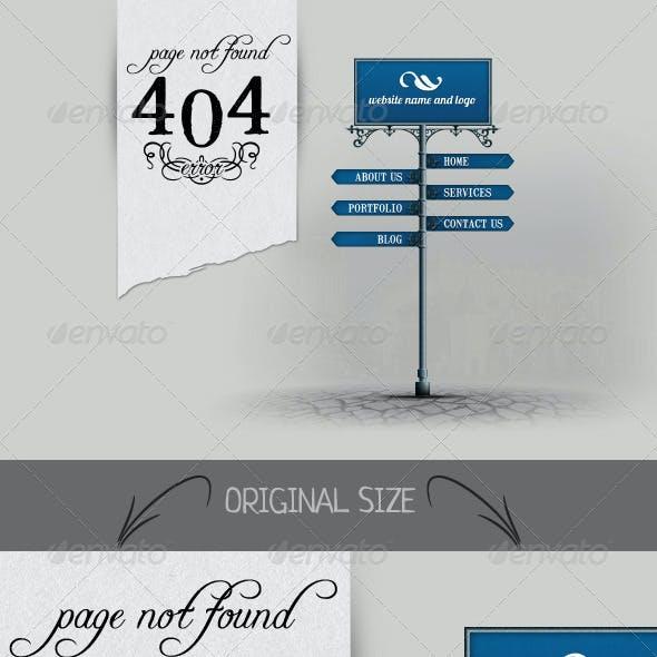 404 Signpost