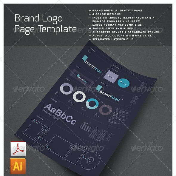 Brand Logo Identity Layout Page