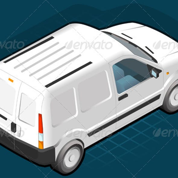 Isometric White Van