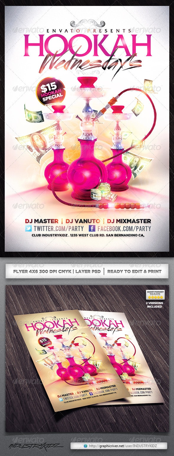 hookah lounge flyer - Clubs & Parties Events