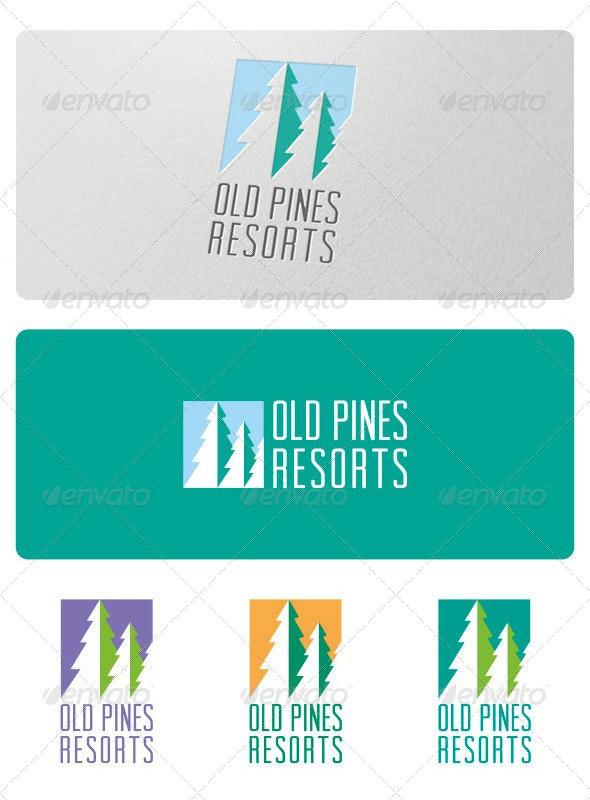 Old Pines Resorts Logo - Nature Logo Templates