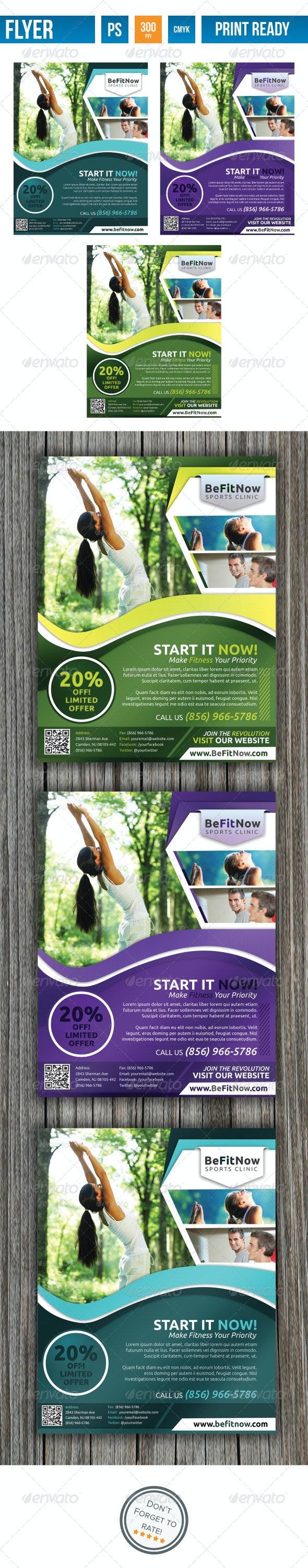Fitness Flyer V2 - Flyers Print Templates