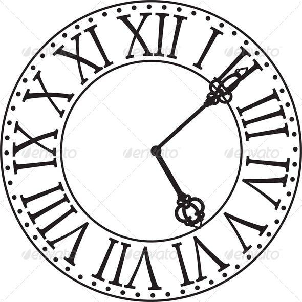 Antique Clock Face
