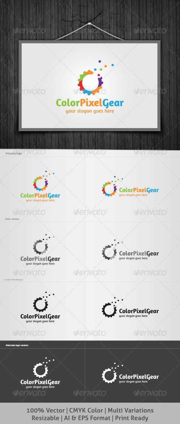 Color Pixel Gear Logo - Objects Logo Templates