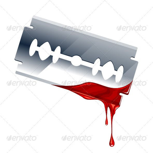Vector Illustration of Blade with Blood