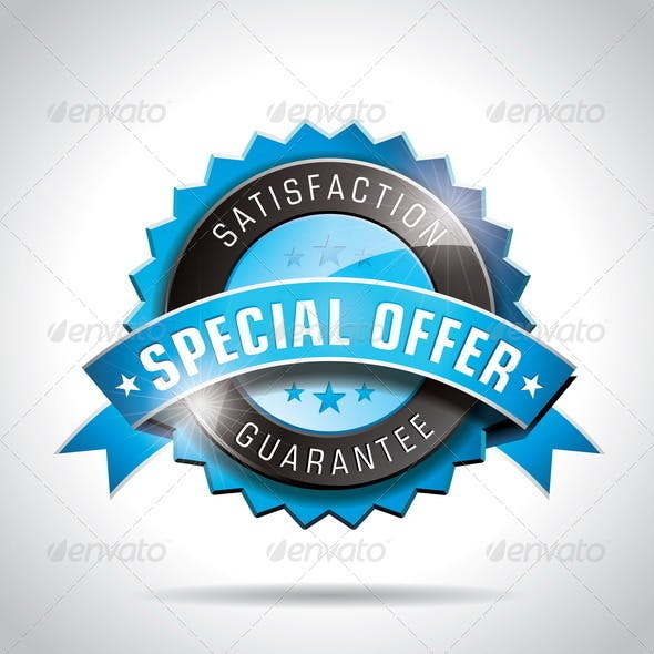 Vector Special Offer Labels Illustration