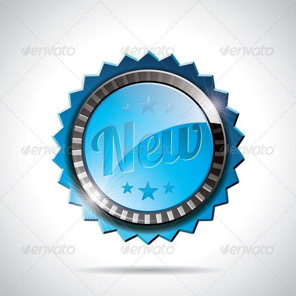Vector New Labels Illustration design