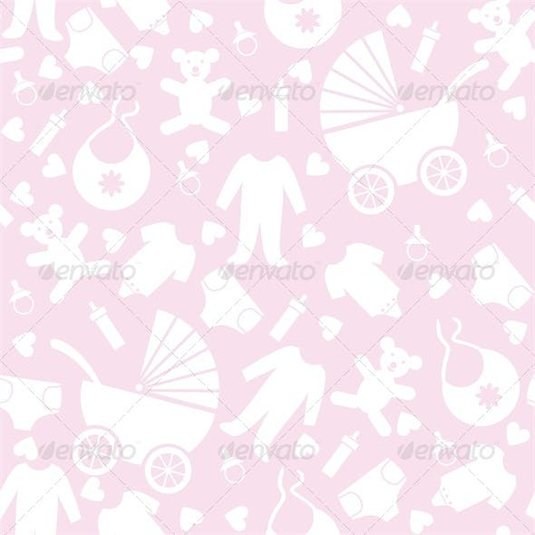 Pink Baby Background for Baby Shower